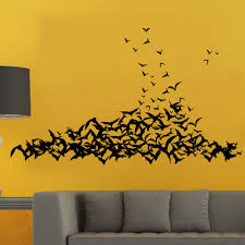 compare prices on bat decals online shopping buy low price bat removable halloween bats diy wall sticker home room pvc wall decals mural art home decor window