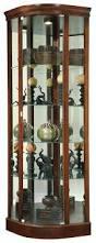 Oak Curio Cabinet Curio Cabinet Corner Lighted Curio Cabinet Black Oak 35