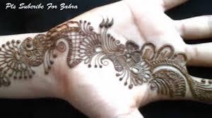 latest tattoo designs on hand latest mehandi design front hand 2015 video youtube