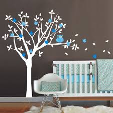 Bedroom Wall Decals Trees 2017 New Nursery Vinyl Wall Decals Tree And Owl Wall Sticker Kids