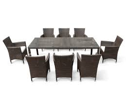 Wicker Resin Patio Furniture - wicker patio dining set for 8 italy