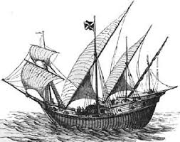 a caravel is a small, fast Spanish or Portuguese ship of the 15th–17th centuries