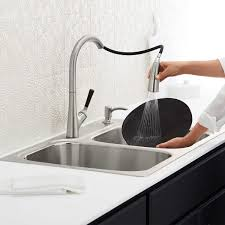 hansgrohe cento kitchen faucet in steel optik u0026 chrome finish