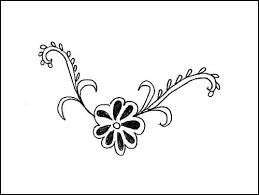 Indian Flower Design Indian Flower Henna Design Mo Flickr