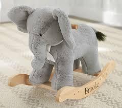 nursery elephant plush rocker pottery barn kids