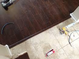 Kitchen Tile Flooring Ideas Floor Transition Laminate To Herringbone Tile Pattern Model