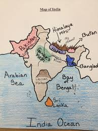 India Map Quiz by Water For Sixth Grade Map Of India