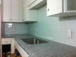 Kitchen No Backsplash Or Maybe Big Glass Subway Tiles For The Kitchen Backsplash Or