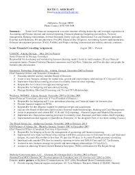Chief Accountant Resume Sample Sample Cpa Resume Tax Virtren Com