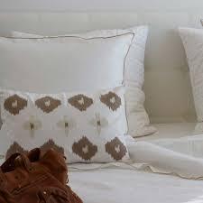 chemin de lit en lin housse de couette en lin lavé blanc bourdon naturel maison d u0027été