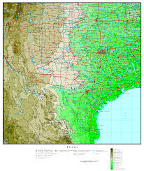 Texas Map Austin by Texas Elevation Map