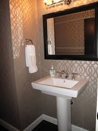 bathroom 2017 fabulous small guest bathroom with cool wallpaper