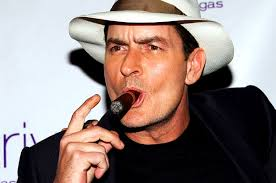 Charlie Sheen Smoking Cigar