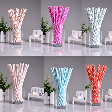 pcs lot Mini Heart Paper Straws for Kids Birthday Wedding Decoration Party Straws Event Supply AliExpress com