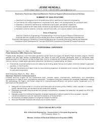 Maintenance Technician Resume Sample by Smartness Inspiration Technician Resume 9 Free Electronic