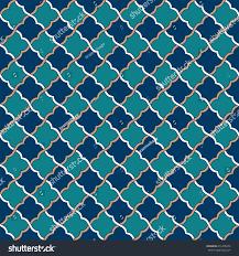 seamless tosca blue peach moroccan pattern stock vector 631498355