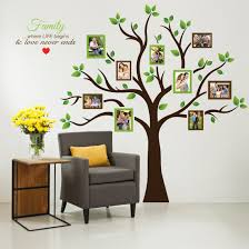 Bedroom Wall Decals Trees Amazon Com Timber Artbox Large Family Tree Photo Frames Wall