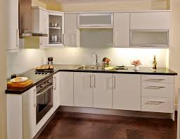 kitchen with dark grey cabinets and glass cabinet doors glass with