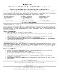 Sample Resume  Medical Sales Resume Sle Skills On