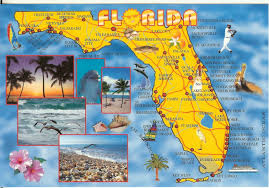 Boca Grande Florida Map by Postcards From States Map Card From Florida