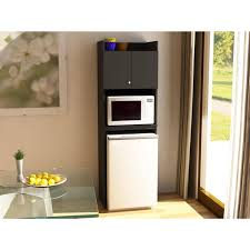 systembuild clarkson mini refrigerator storage cabinet black
