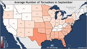United States Map by Annual And Monthly Tornado Averages For Each State Maps U S