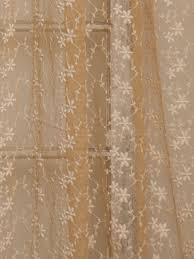nanette embroidered net curtain gold your home curtains