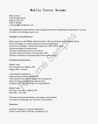 Sample Resume Of Manual Tester by Manual Testing Resume Sample Resume For Your Job Application