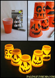 Halloween Tin Can Crafts Halloween Cup Decorations Easy Halloween Plastic Cups And