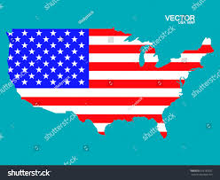 States Of United States Map by Map United States America Flag Vector Stock Vector 316183931