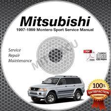 1997 1998 1999 mitsubishi montero sport service manual cd rom 2 4l