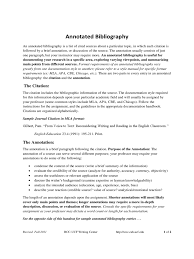 annotated bibliography mla style Sample Teaching Annotated Bibliography Template Free Download