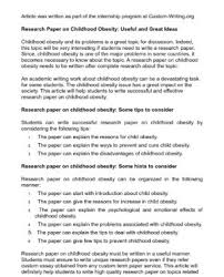 Cause effect essay outline