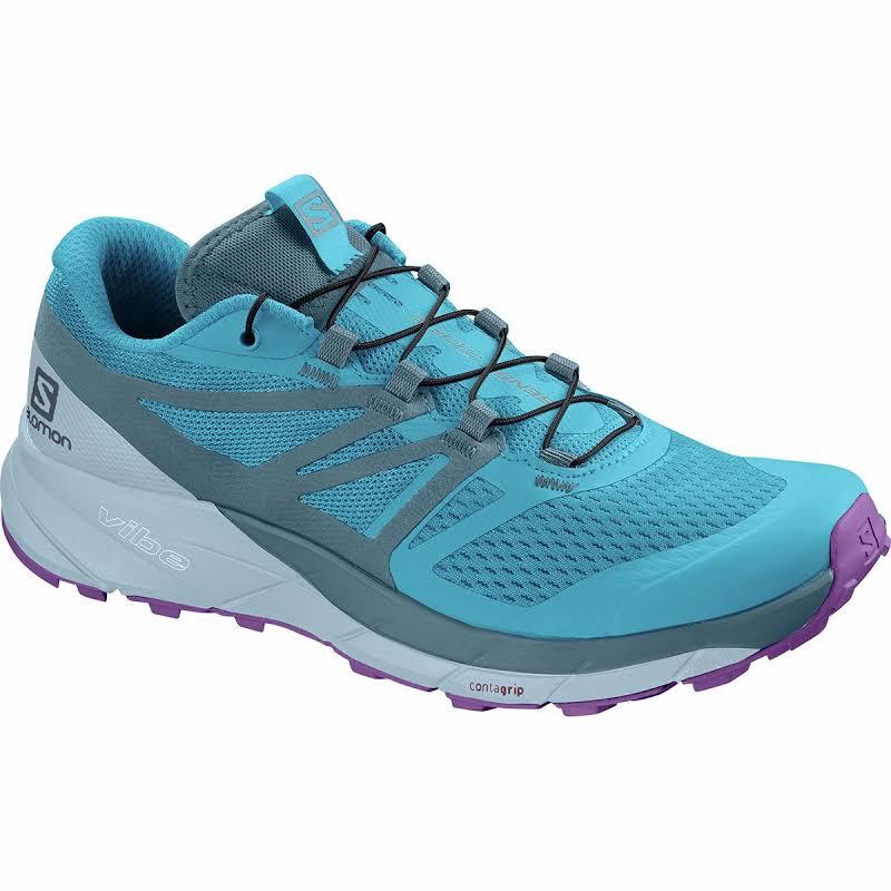 Salomon Trail Shoes 6.5 Cyan Blue