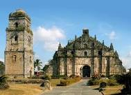 Image of century old church in the Paoay,Ilocos