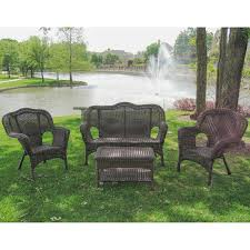 Wicker Resin Patio Furniture - international caravan madison wicker resin patio conversation set
