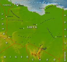 Physical Map Of Africa by Libya Physical Map