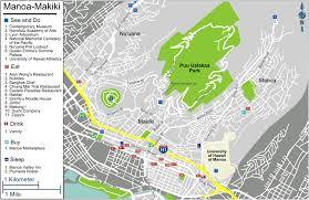 Map Of Waikiki Honolulu Manoa Makiki U2013 Travel Guide At Wikivoyage