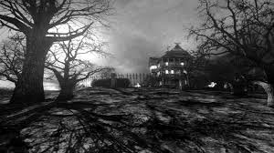 halloween background 1366x768 terror free hd dark halloween horror house x 1366x768 174395