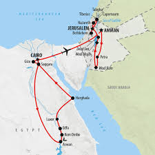 Egypt On A World Map by Egypt Jordan And Israel Group Tour On The Go Tours