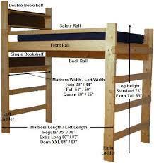 Wood Loft Bed Plans by Best 25 Dorm Loft Beds Ideas On Pinterest College Loft Beds
