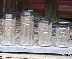 vintage kitchen canister sets explanation all home decorations image of glass vintage kitchen canister sets