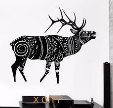 popular removable wall murals winter buy cheap removable wall deer reindeer winter animal tribal ornament black wall art decal sticker removable vinyl transfer stencil mural