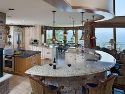 Marble Top Kitchen Islands by Marble Top Kitchen Island With Half Circle Shape Idea