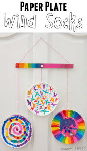 paper plate wind socks paper plate crafts activity ideas and