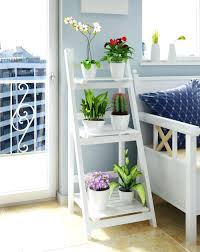 sophisticated ladder shelves with white accent color combined