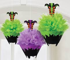 amazon com witch legs in cauldron fluffy tissue paper hanging
