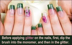 all you wanted to know about glitter acrylic nails