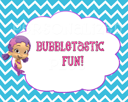 bubble guppies party signs
