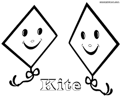 kite coloring pages coloring pages to download and print